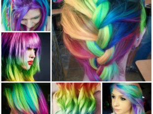 Цветной лак для волос можно найти практически в каждом магазине