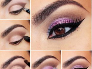 Выбор теней нужно осуществлять в соответствии с цветом глаз и волос