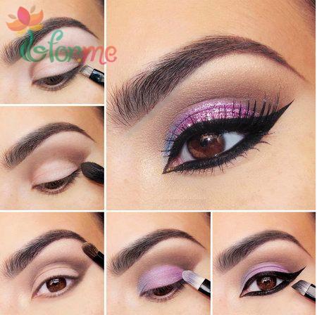 Учимся правильно красить глаза тенями