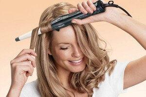 Укладка волос щипцами