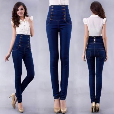 Фото 3 Модель джинс с высокой талией скинни подходит стройным девушкам