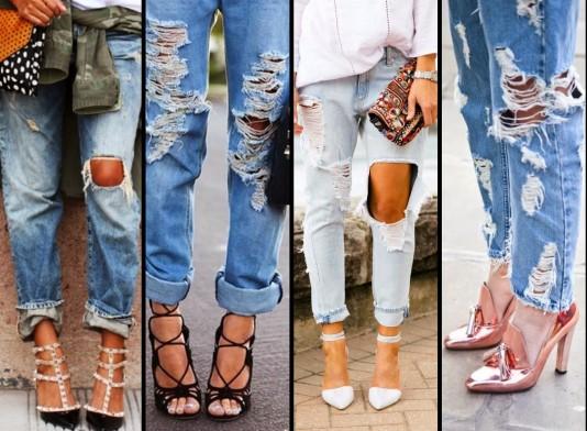 Фото 6 Рваные джинсы являются последним трендом моды