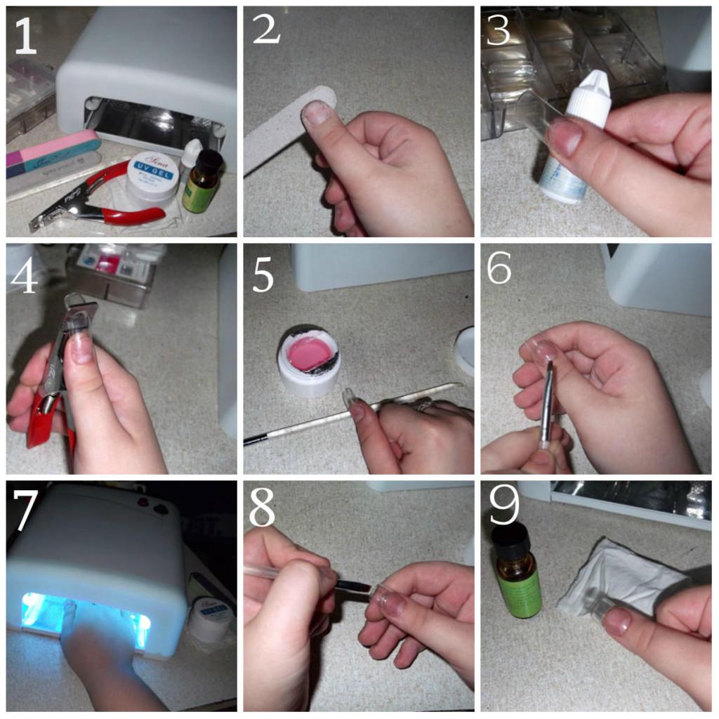 Как нарастить ногти гелем пошагово