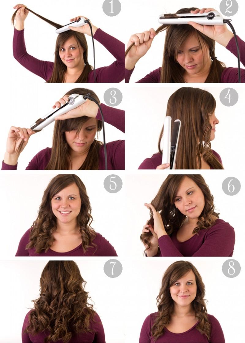 Как сделать кудри на средние волосы выпрямителем видео