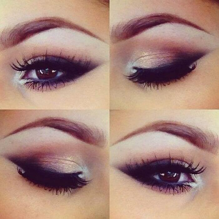 Вечерний макияж для карих глаз вечерний