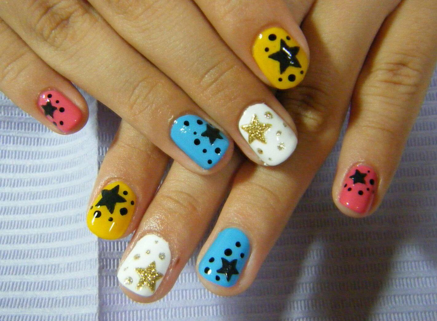 Маникюр рисунки на ногтях на короткие ногти