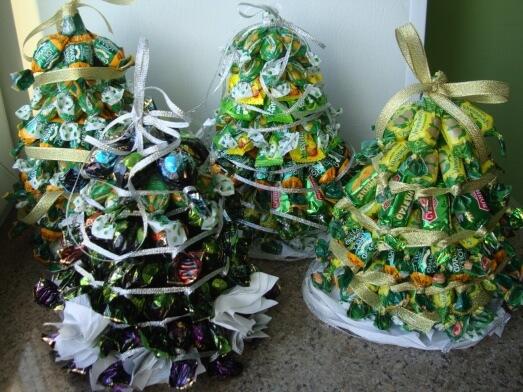 Фото 5 - Из конфет можно сделать елку