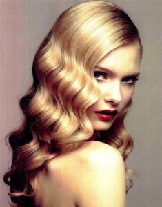 Укладка волос волнами