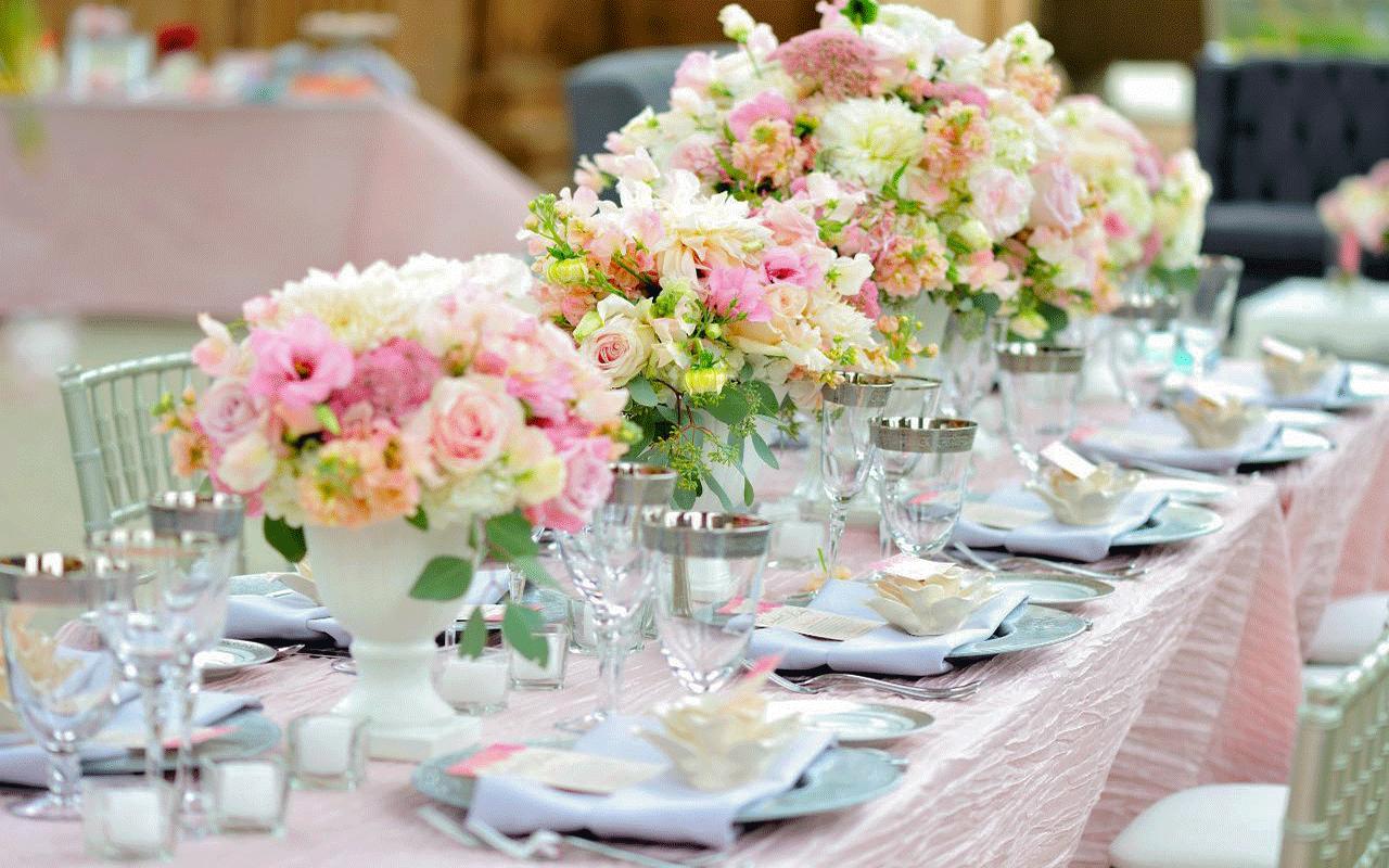 Как украсить стол к свадьбе своими руками