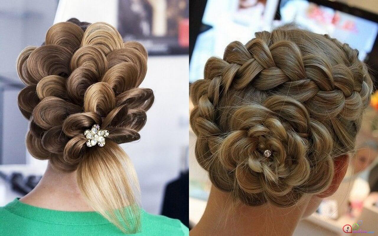 Вечерние прически из кос на длинные волосы
