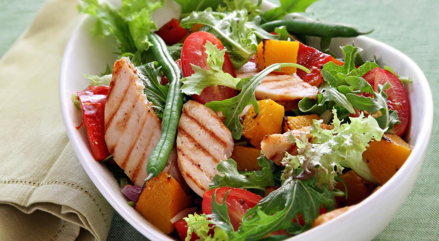 Легкий диетический салат рецепт с