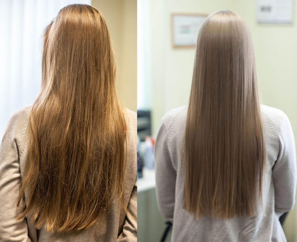 Как и для чего делают ламинирование волос фото до и после