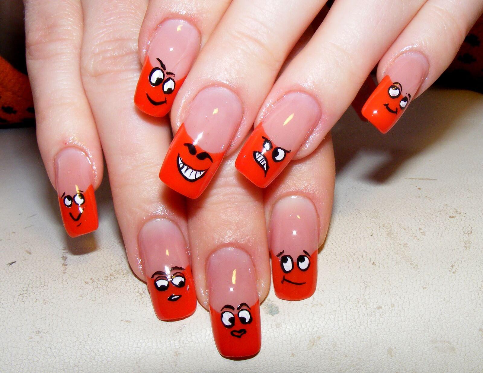 Дизайн ногтей с приколами