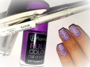 Рисунки гелевой ручкой на ногтях