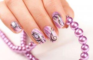 Образцы рисунков на ногтях