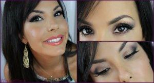макияж для узких карих глаз