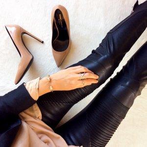 С какой обувью носить кожаные брюки