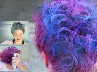 Цветной лак для волос - для креативных