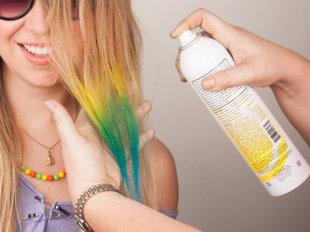 Цветной лак для волос - для веселого настроения