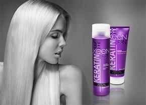 Кератин в составе шампуня помогает волосам выглядеть красивее