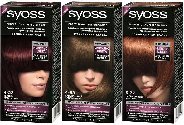 Внешний вид краски для волос Syoss