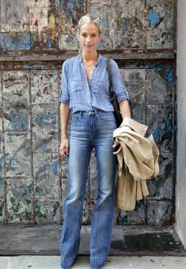 Фото 5 Джинсы с высокой талией сочетаются с рубашками