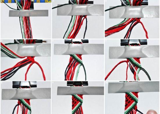 Схемы плетения фенечек можно найти в интернете
