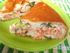 Пирог с рыбными консервами наливной