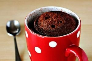 Шоколадные кексы за 5 минут