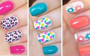 Простые рисунки на ногтях иголкой