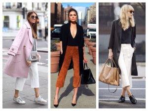 с чем носить укороченные брюки