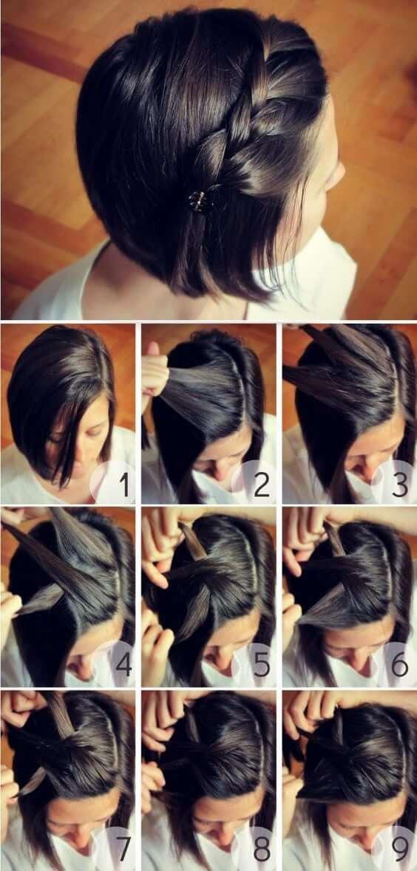 как сделать укладку на короткие волосы