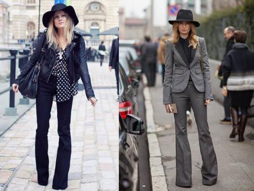 брюки клеш снова в моде