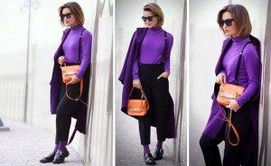 Фиолетовый с черным