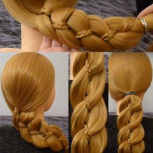 Французская четырехрядная коса