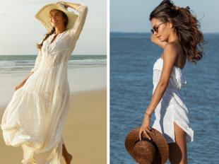 Белые пляжные платья